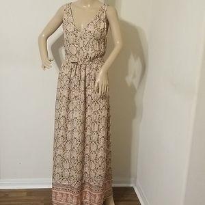 Lucky Brand Petite Floral Print Maxi Dress NWT